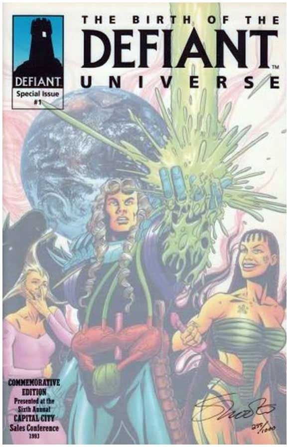 The Birth of the Defiant Universe #1 One-Shot Retailer Promo.  Click the pic and find out more...