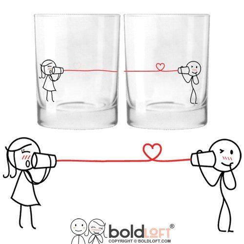 Glass Set-Ideal Anniversary Gifts,His And Hers Gifts,Wedding Gifts ...