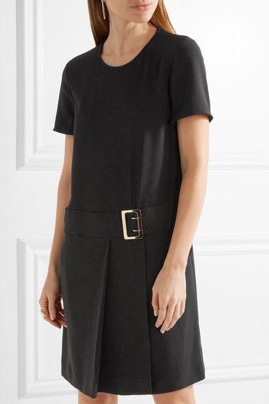 Burberry - Buckled Stretch-crepe Mini Dress - Black - UK