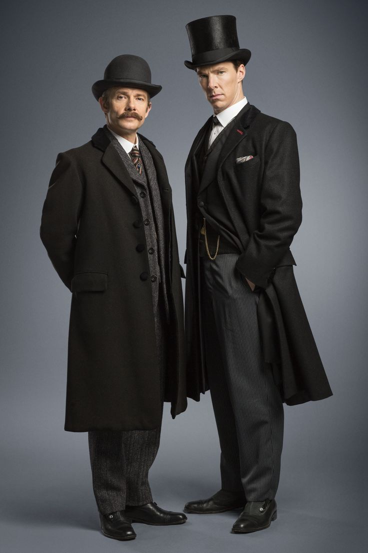 SHERLOCK (BBC/PBS) ~ John Watson (Martin Freeman) and Sherlock Holmes (Benedict Cumberbatch) in the pre-Season 4 special, SHERLOCK: THE ABOMINABLE BRIDE, which premieres January 1, 2016 on BBC and PBS.