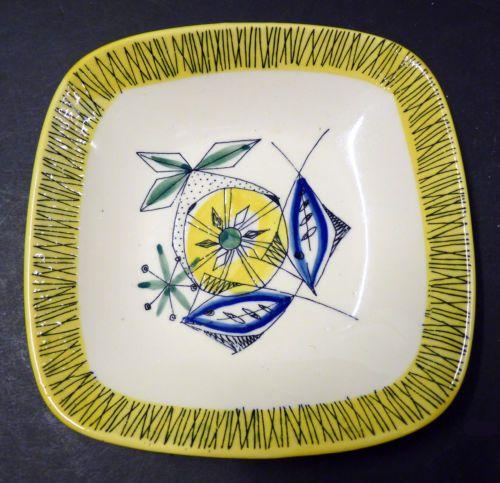Vintage 1950s Inger Waage Stavangerflint FLAMINGO Norwegian Scandinavian Dish. More Norwegian pottery coming later in the week. Find our eBay shop at www.shopatstfrancis.co.uk