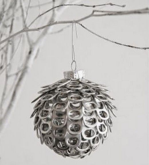 EL MUNDO DEL RECICLAJE: Adornos de Navidad hechos con material reciclado (2)