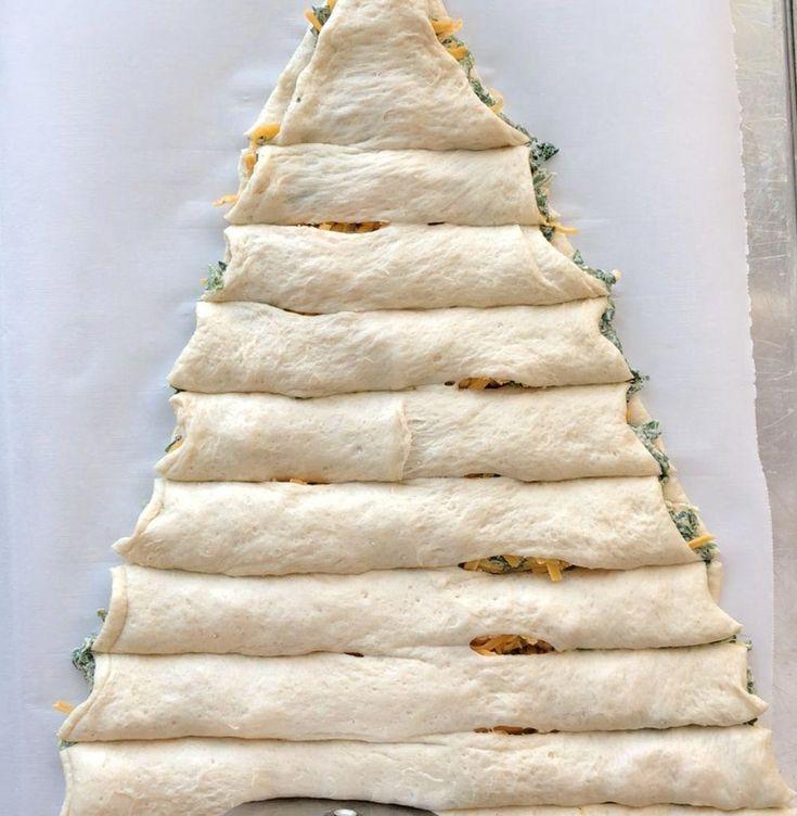 Weihnachtsbaum Spinat Dip Breadsticks   – appetizers ideas