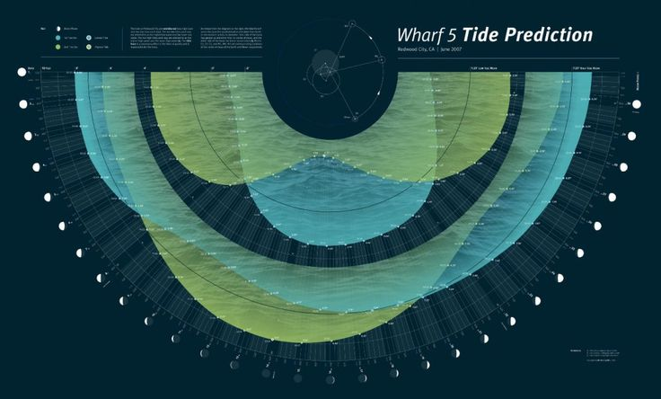 Timeline: Tide Prediction Infographic Infographic - Information Graphic Designs at Style & Flow