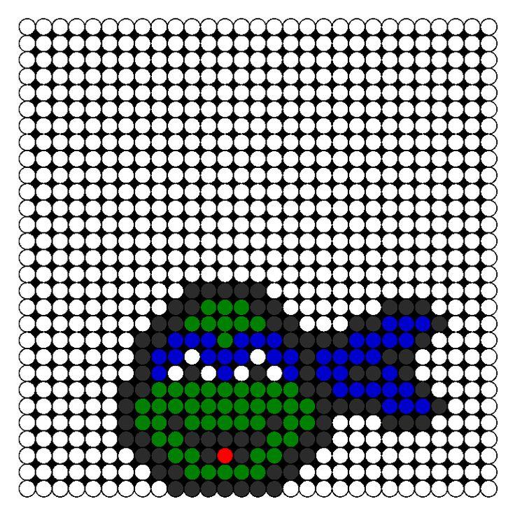 Ninja Turtle Face Perler Bead Pattern Bead Sprites