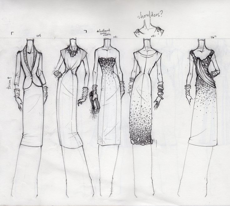 "Fashion Sketchbook - fashion design drawings; dress sketches; fashion portfolio // Jacob ""TheBocaj"""