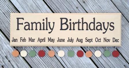 Family Birthday Board sign
