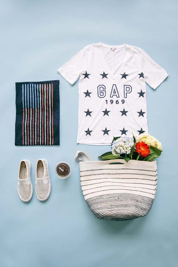 Stars, stripes, friends, & fireworks...Happy July 4th from Gap! Shop our favorite red white & blue basics.