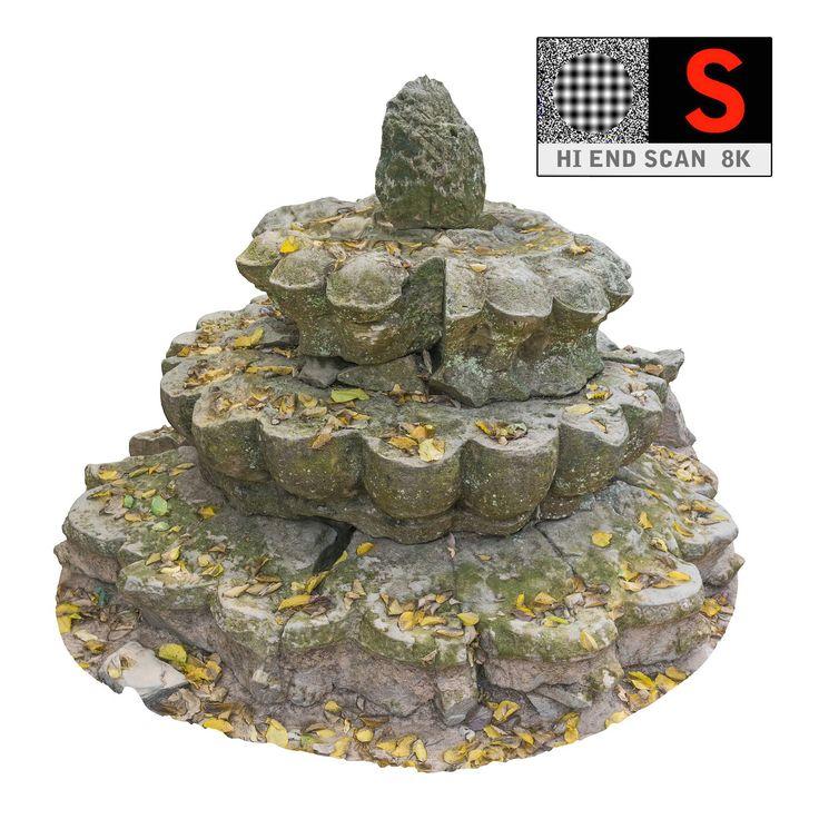 ancient buddhist stupa 8k 3d obj
