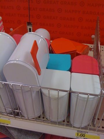 mini mailboxes from target as goody bags