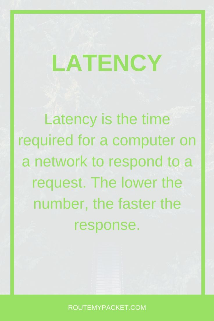 Basics About Latency In Networking. Learn More At Routemypacket.com See  Also: Computer