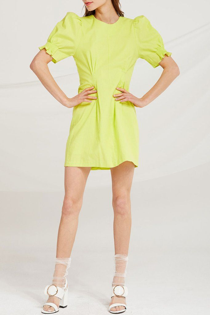 1fd252497fba Marianna Puff Sleeve Dress in 2019 | Neon Brights | Dresses, Short ...