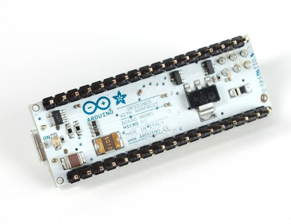NEW PRODUCT - Arduino Micro with Headers - 5V 16MHz - (ATmega32u4 - assembled)