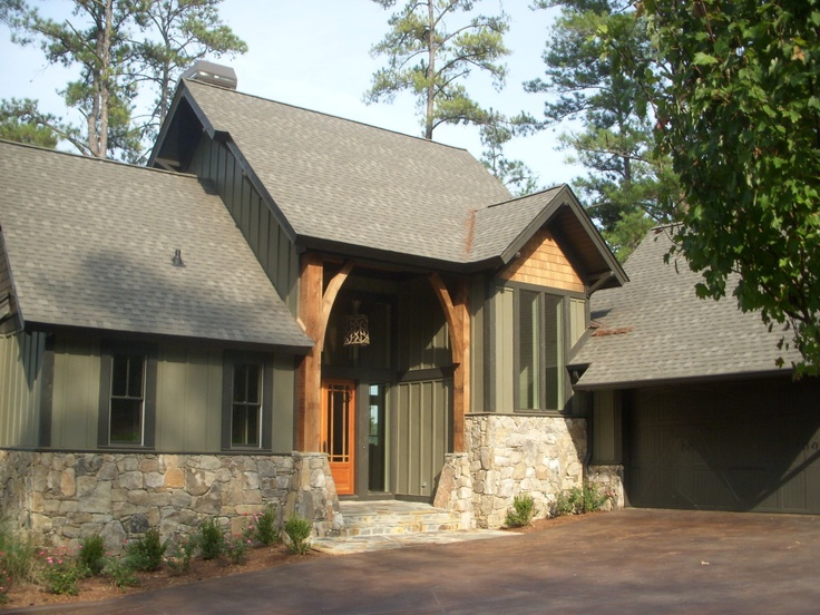 Board And Batten With Stone | Houzz