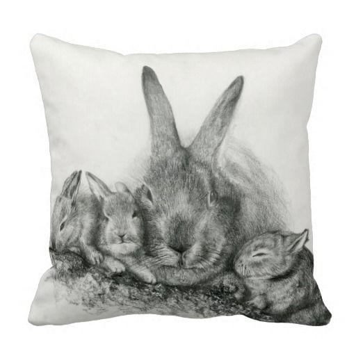 Throw Pillow Momma Rabbit and Bunnies http://www.zazzle.com/throw_pillow_momma_rabbit_and_bunnies-189547758357392006?rf=238205274887202706