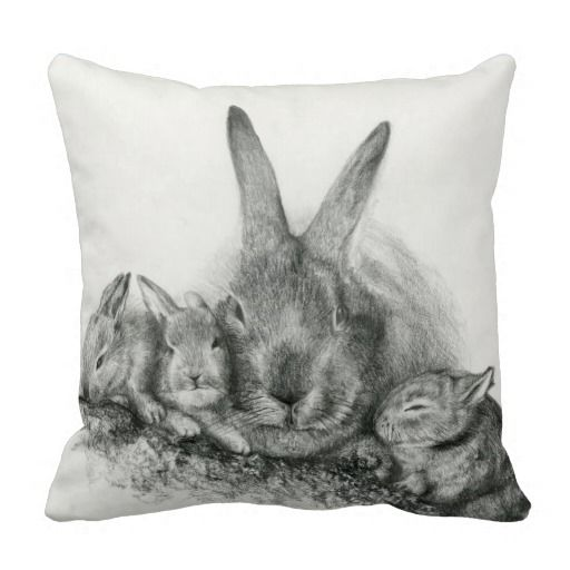 Decorative Pillows With Rabbits : 17 Best images about gifts on Pinterest Ceramics, Sexy bra and Customized girl
