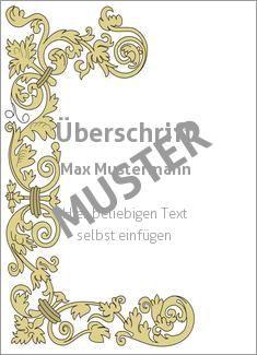 Muster Ehrenurkunde, Vereinsurkunde, Zertifikat Rahmen Rahmen 'Ornament Gelb'