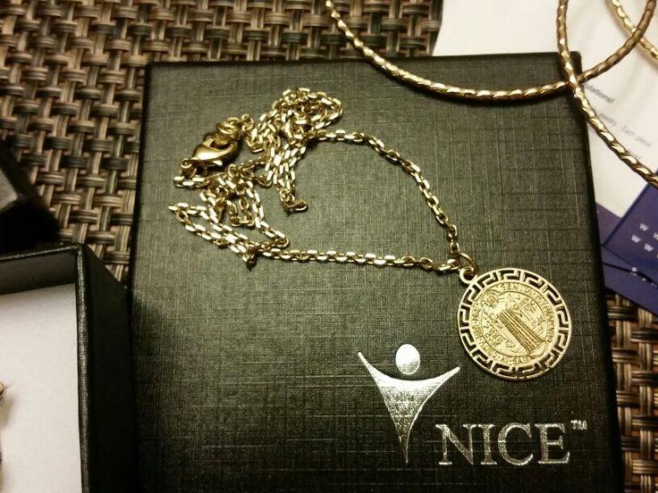 Nice usa jewerly accesories medalla san benito y cadena for Bano de oro el yunque
