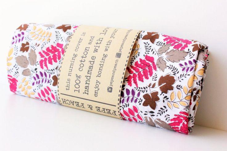 Nursing cover up, Nursing scarf, Nursing top, Baby shower gift, Pink Leaves