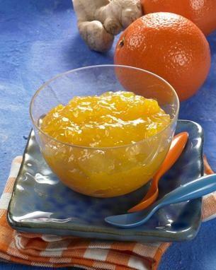Fruchtige Orangen-Ingwer-Marmelade zum Frühstück