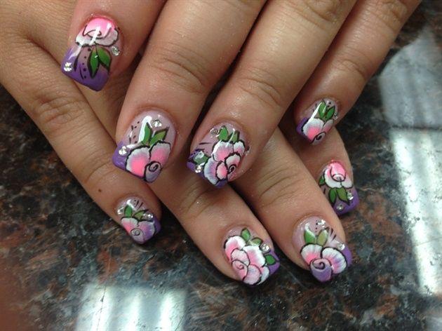 Pink Rose  by Pinky - Nail Art Gallery nailartgallery.nailsmag.com by Nails Magazine www.nailsmag.com #nailart