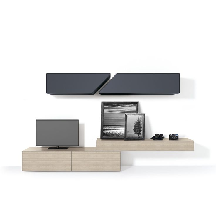 Modern Italian TV unit Cube by Santarossa in neve and grey lacquered f at My Italian Living Ltd