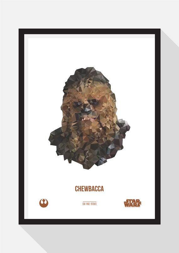 Chewbacca Portrait by TheDesignCollection on Etsy