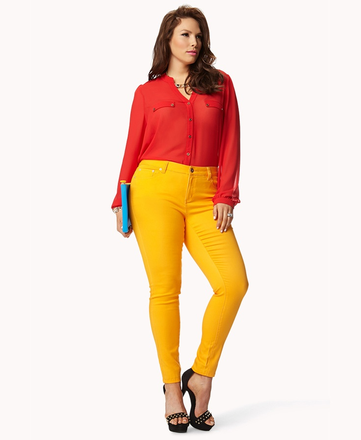 Lime green skinny jeans plus size