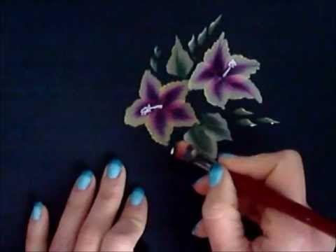 one stroke. Pittura cinese. sfumature. dipingere fiori in modo facile - YouTube