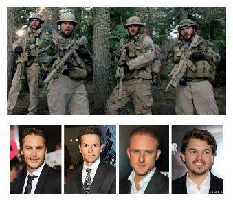 Lone Survivor cast: Taylor Kitsch-Michael P. Murphy. Mark Wahlberg-Marcus Lettrell. Ben Foster-Matthew Axleson. Emilie Hirsch-Danny Dietz