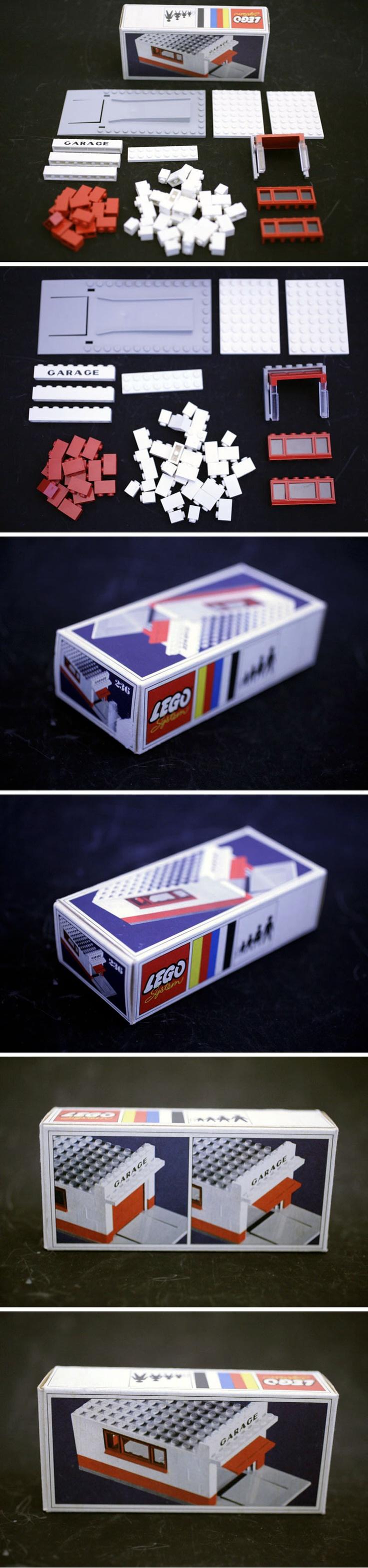 LEGO VINTAGE SET 236 GARAGE WITH DOOR FOR SALE ON EBAY.DE