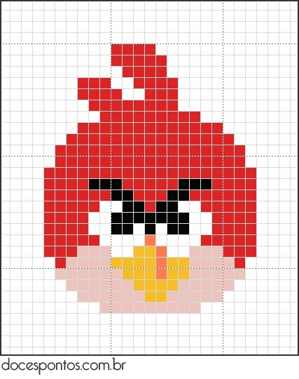 angry bird pattern for quilt blocks or cross stitch