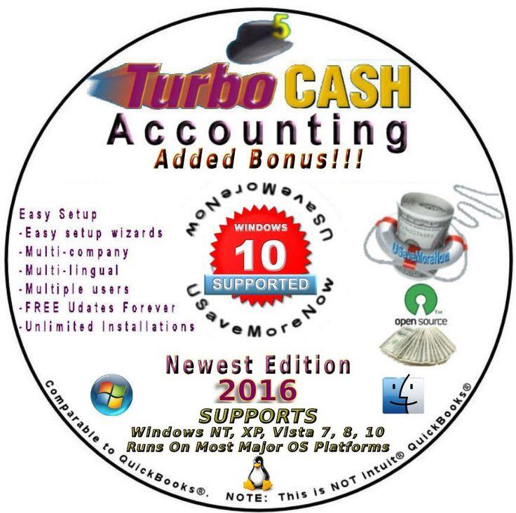 EBAY Business Accounting Software   TurboCASH  Pre-setup Ebay Books Included