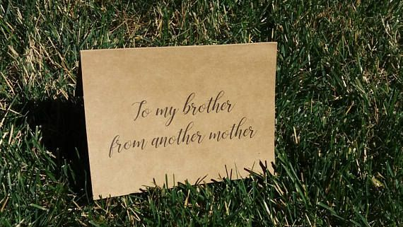 To my brother from another mother / Groomsman Card / Wedding