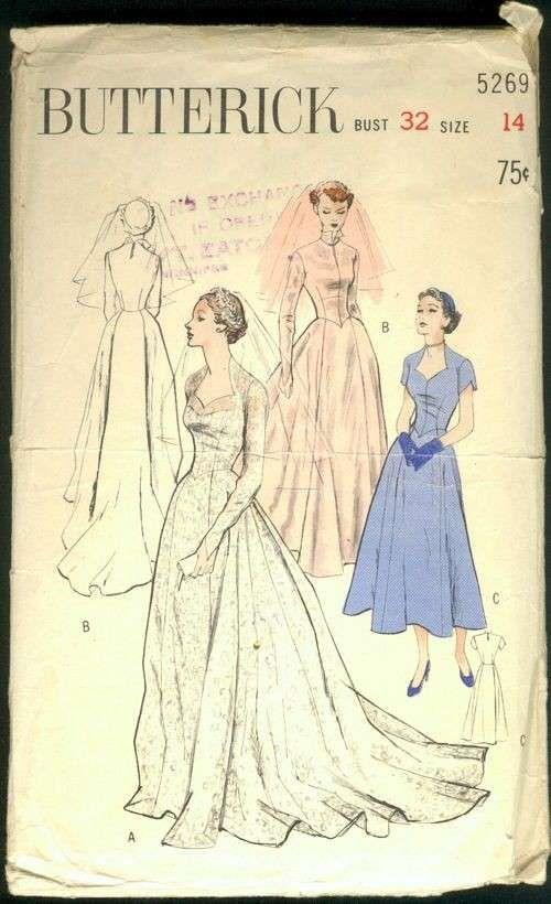 Cartamodelli di abiti da sposa - Cartamodello per abito con gonna ampia