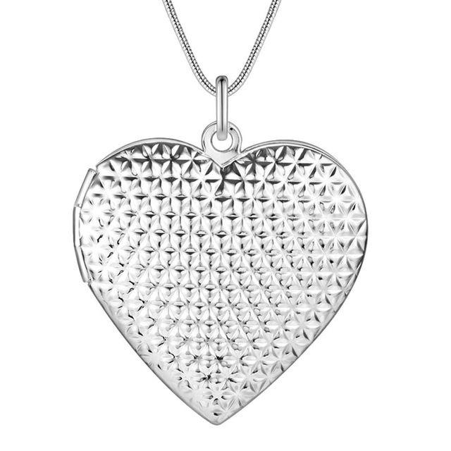 Оптовая посеребренные шарм jewelrys Ожерелье, бесплатная доставка 925 штампованные ювелирные изделия кулон сказочный сердце AN730
