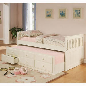 coaster la salle twin bed w trundle and storage drawers in white collection la salle collection offers casual and classic