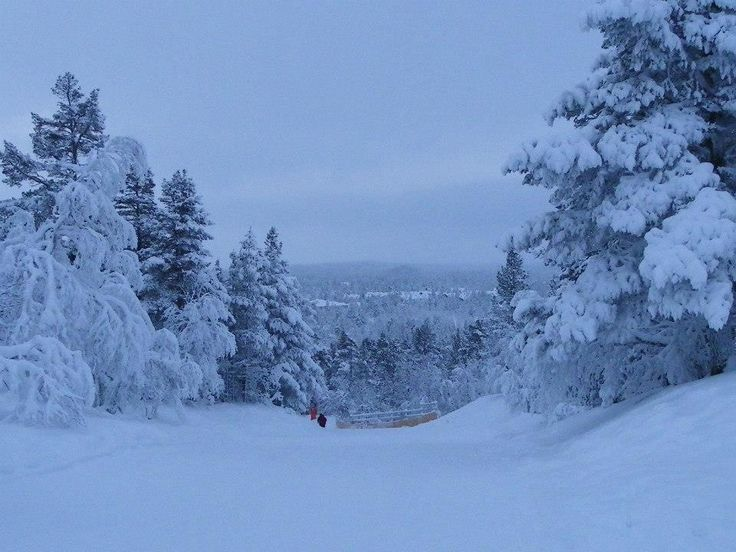 Kaunispaa, Saariselka, Finland (half way up)