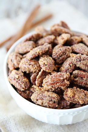 Candied Pecans Recipe on twopeasandtheirpod.com They are a great topping for salads, main dishes, and desserts! They make a great gift too!
