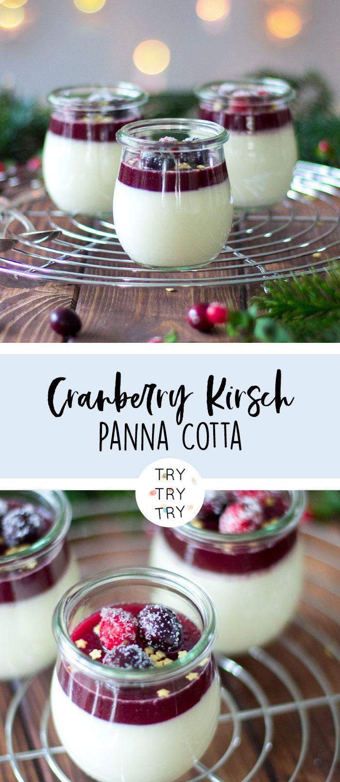 cranberry kirsch panna cotta rezept in 2019 nachtisch. Black Bedroom Furniture Sets. Home Design Ideas
