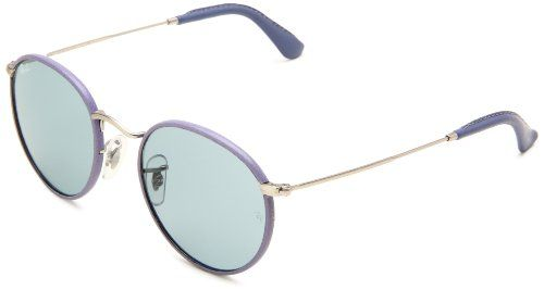 Ray-Ban Women's Gradient Clubmaster RB3475Q-112/53-50 Gold Round Sunglasses