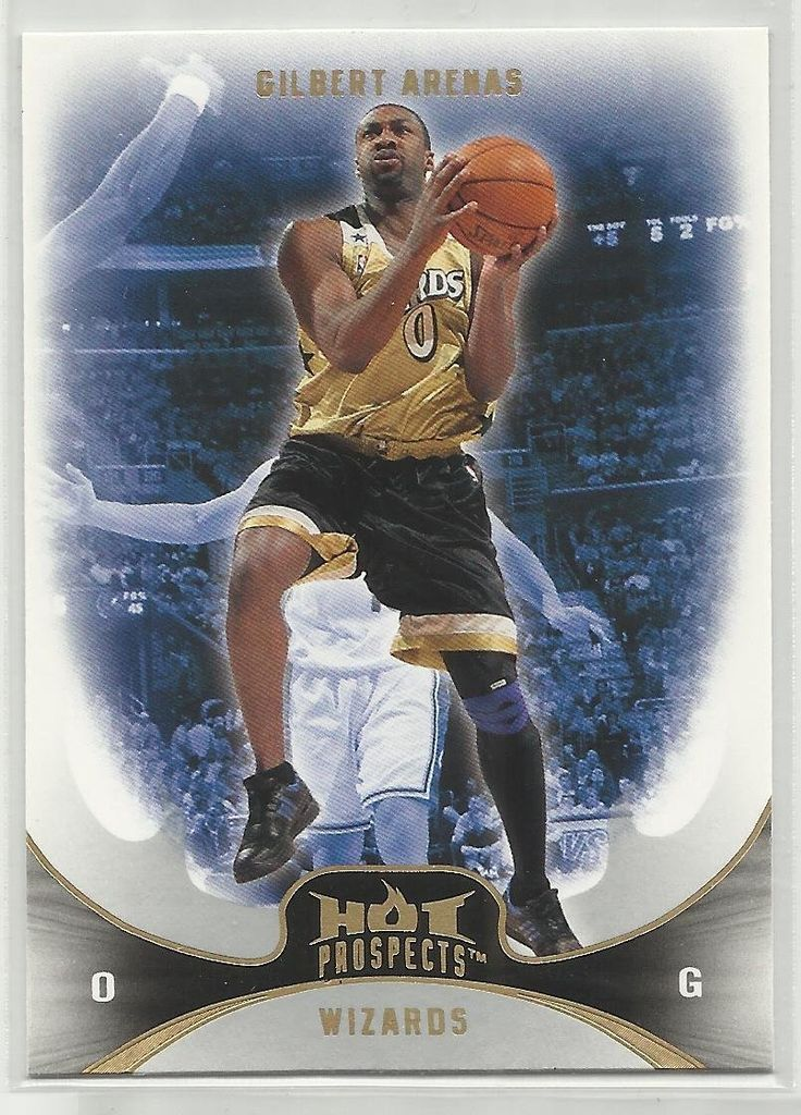 Gilbert Arenas 2008-09 Fleer Hot Prospects NBA Basketball Card 4 Washington Wizards >>> Want additional info? Click on the image.