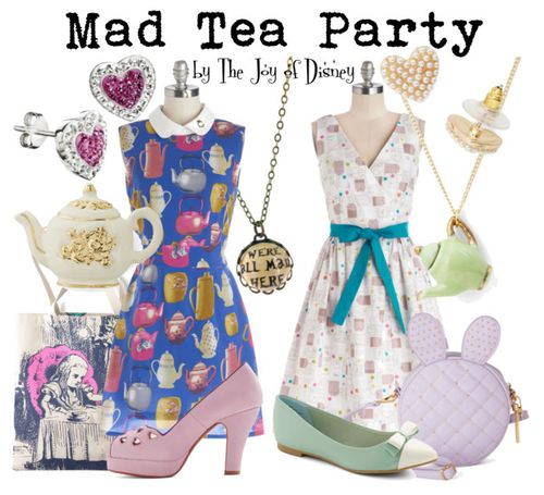 Outfits inspired by the Mad Tea Party scene from Alice in Wonderland!