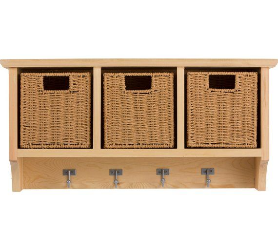 Buy HOME Pine Wall Storage Unit with Baskets at Argos.co.uk, visit Argos.co.uk to shop online for Storage units, Storage, Home and garden
