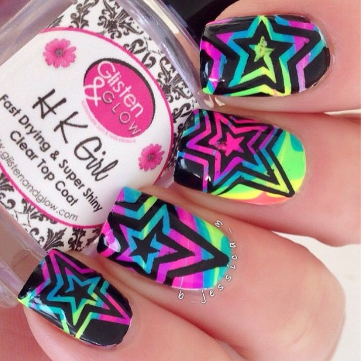 Just saw this fab @dripdropnails star swirl watermarble mani on Jessica's #2015bestnine and had to post it!  - Star Swirl & Thin Star Swirl Nail Vinyls  snailvinyls.com