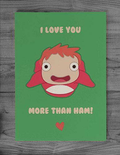 Studio Ghibli Ponyo Greeting Card  Love this!
