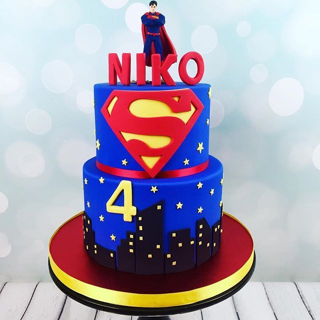 Superman cake#glacecakestudio #boycake #customcakesnewyork #customcakesnj #customcakes #supermancakes #superman