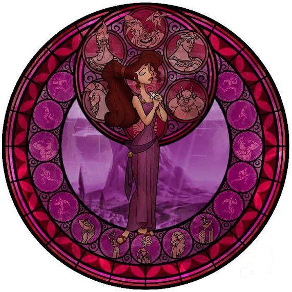 Disney Hercules Stained Glass Cross Stitch Kit