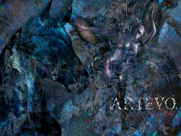 """Musta Hevonen"" Artevo / Veena Malik Project Artevo Edition 150x112,5cm artevo.fi"