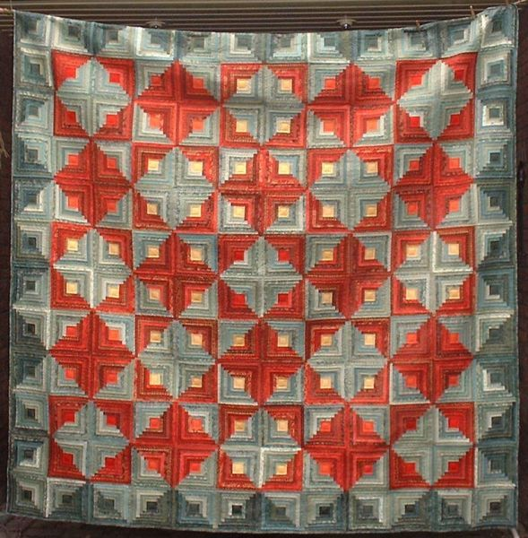 17 best images about log cabin quilts on pinterest quilt for Traditional log cabin plans